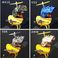Car Interior Decoration Yellow Duck with Helmet for Bike Motor Accessories Without Lights Auto Car Accessories Duck In The Car 4