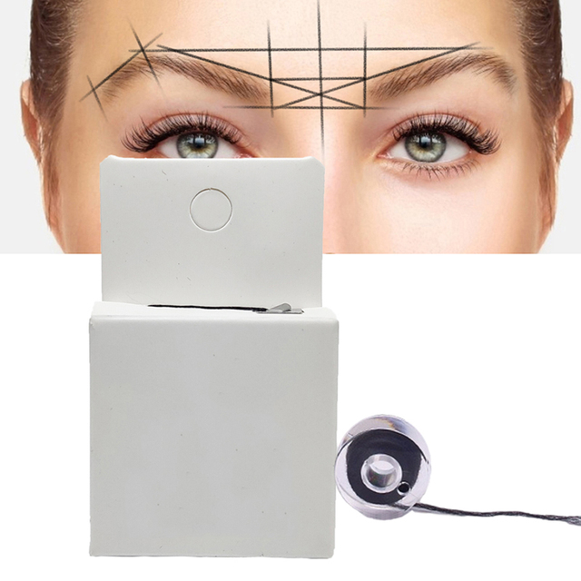 2pc Microblading Mapping String Permanent Makeup Pre-Inked Eyebrow Marker Thread Brow Positioning Tools PMU Accessories Supplies