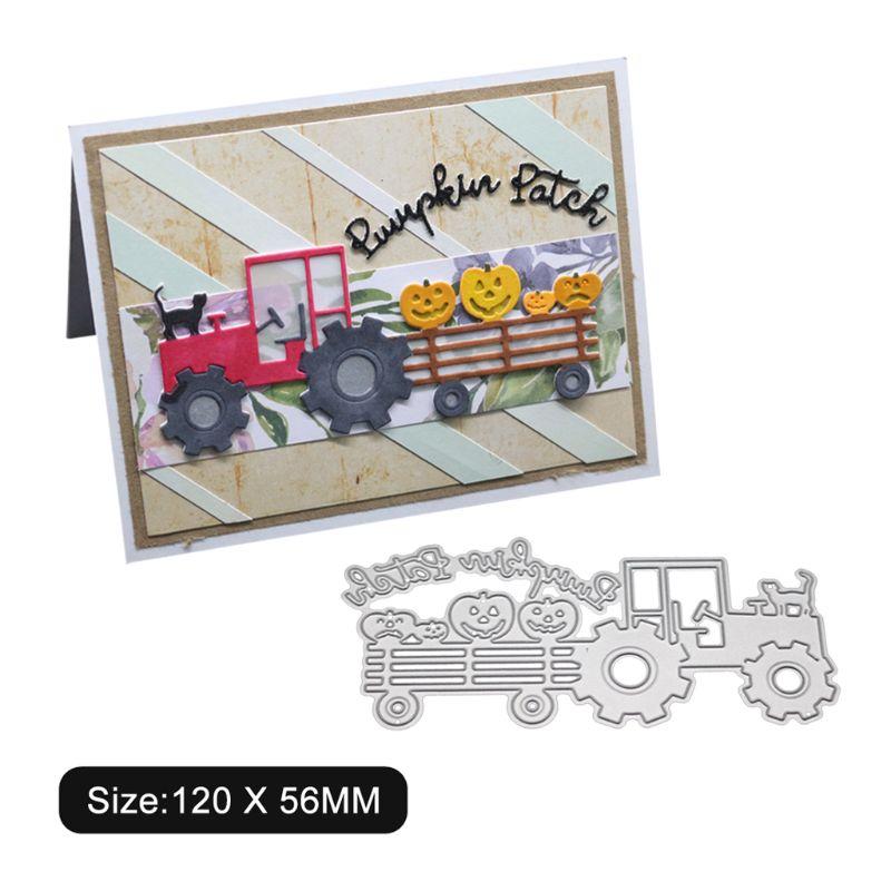 Camion Cat in Metallo Fustelle Stencil Scrapbooking Fai da Te Album di Francobolli di Carta Carta di Goffratura Decor Craft - 5