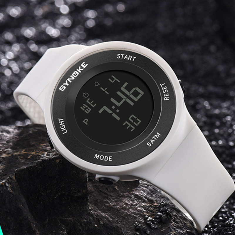 SYNOKE Watches Men LED Digital Watch Man 50M Waterproof Fashion Outdoor Sport Wristwatches Clock With Strap Relojes Hombre 2020