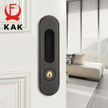 KAK zamek do drzwi przesuwnych z kluczami ukryte drzwi uchwyt do wewnętrznego drzwiowego zamka blokada przed kradzieżą drewniane drzwi blokada sprzęt meblowy