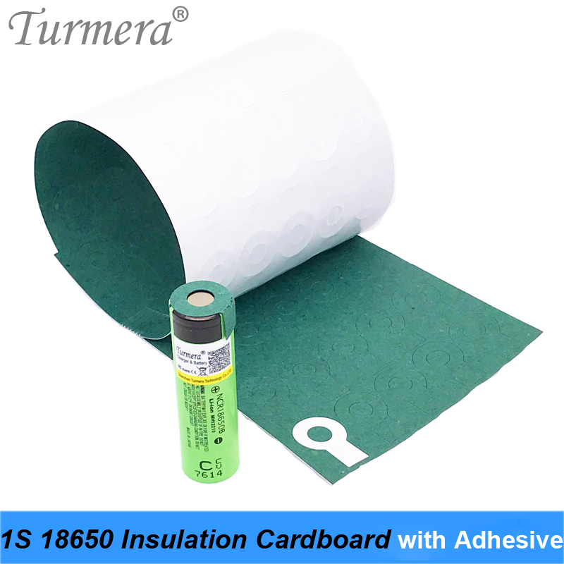 70Pieces 1S 18650 Battery Insulation Cardboard With Adhesive For 18650 Battery Pack Cell Insulating Glue Patch Positive