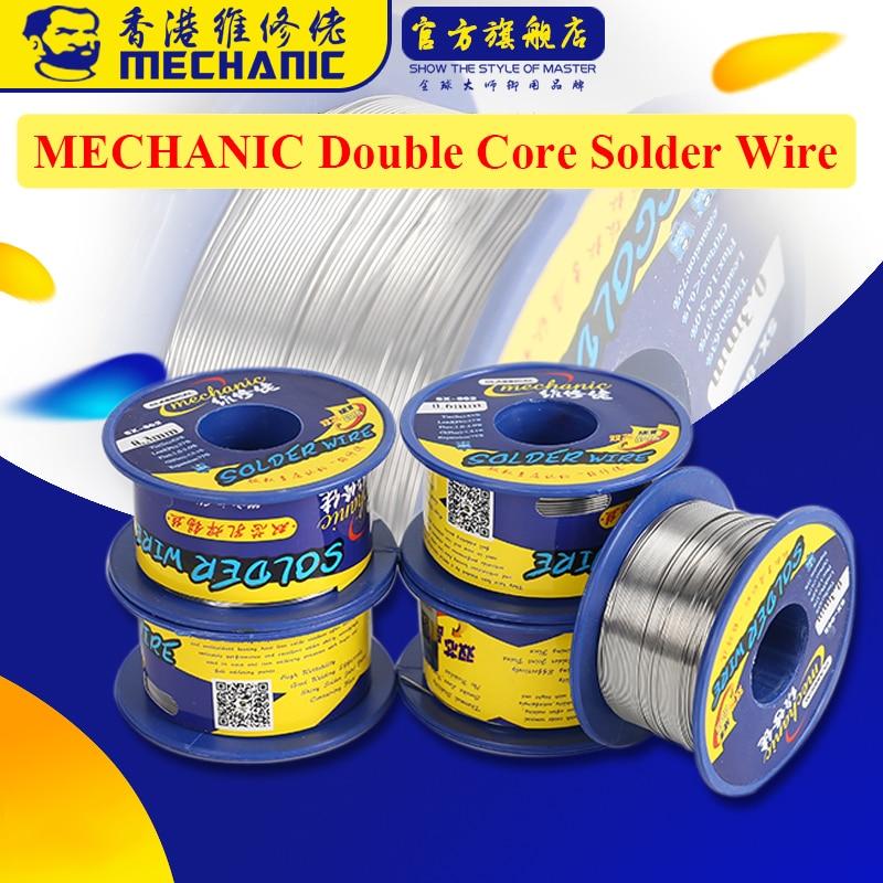 Mechanic Double Core Solder Wire 0.3/0.4/0.5/0.6/0.8/1.0/1.2/1.5/1.8mm 60g Rosin Welding Wire Solder Tin Lead BGA Tools