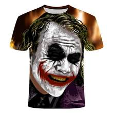 3d Clown T -Shirt Men Joker 3d Full Print Fashion Short Sleeves Tees Harajuku Hip -Hop Tshirt Summer Tops