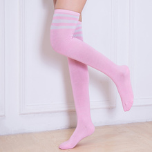 Women Girl Sport Stripe Stripy Striped Over The Knee Thigh High Over The Knee Stockings