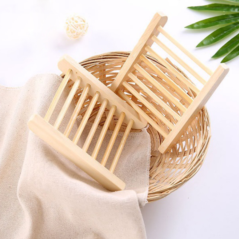 Portable Bamboo Wooden Soap Dish Shower Case Holder Container Storage Box SimpleHouse.Pro
