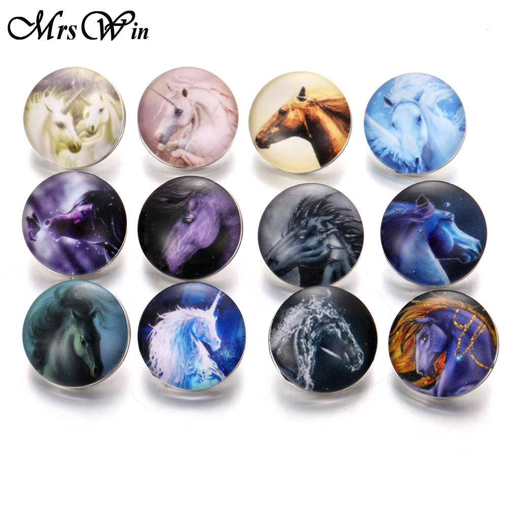 10pcs/lot New Snap Button Jewelry Ginger Glass 18mm Snap Buttons Cabochon Charms Fit DIY Snap Bracelet Bangles Necklaces image