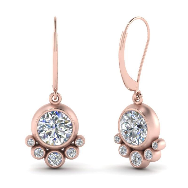 Huitan Cute Foot Print Shape Rose Gold Color Women Drop Earring Daily Wear Birthday Valentines Girl Gift Fashion Earring Jewelry