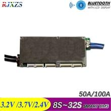 16S ~ 32S 스마트 개미 bms 안드로이드 블루투스 app 모니터가 장착 된 새로운 DIY Lifepo4 리튬 이온 50A/80A/100A/110A/120A 스마트 bms pcm