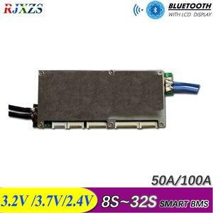 Image 1 - 16S Đến 32S Thông Minh Kiến Bms New DIY Lifepo4 Li ion 50A/80A/100A/110A/120A Thông Minh Bms Pcm Với Android Bluetooth Ứng Dụng Màn Hình