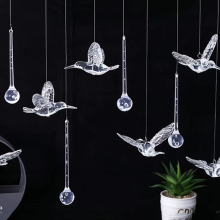36pcs Acrylic Transparent Hummingbird Drop Wedding Ceiling Home Decor DIY Hotel Stage Props