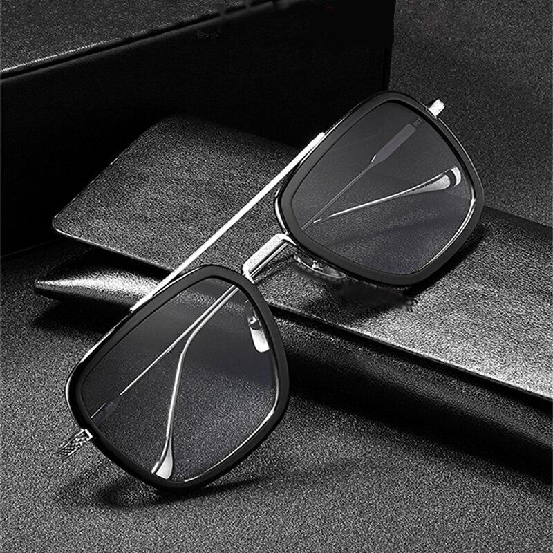 Lunettes homme fer carré Tony Stark lunettes de soleil vol 006 Style Robert Downey jr Avengers lunettes Anti-éblouissement pour la conduite