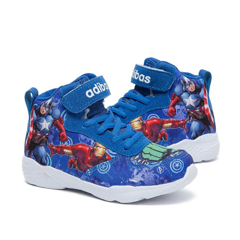 חורף 2019 ילד כדורסל נעלי ריצת נעלי נוקמי תינוק ילדי נעלי ספורט אתחול קריקטורה שובב chaussure ילד סניקרס