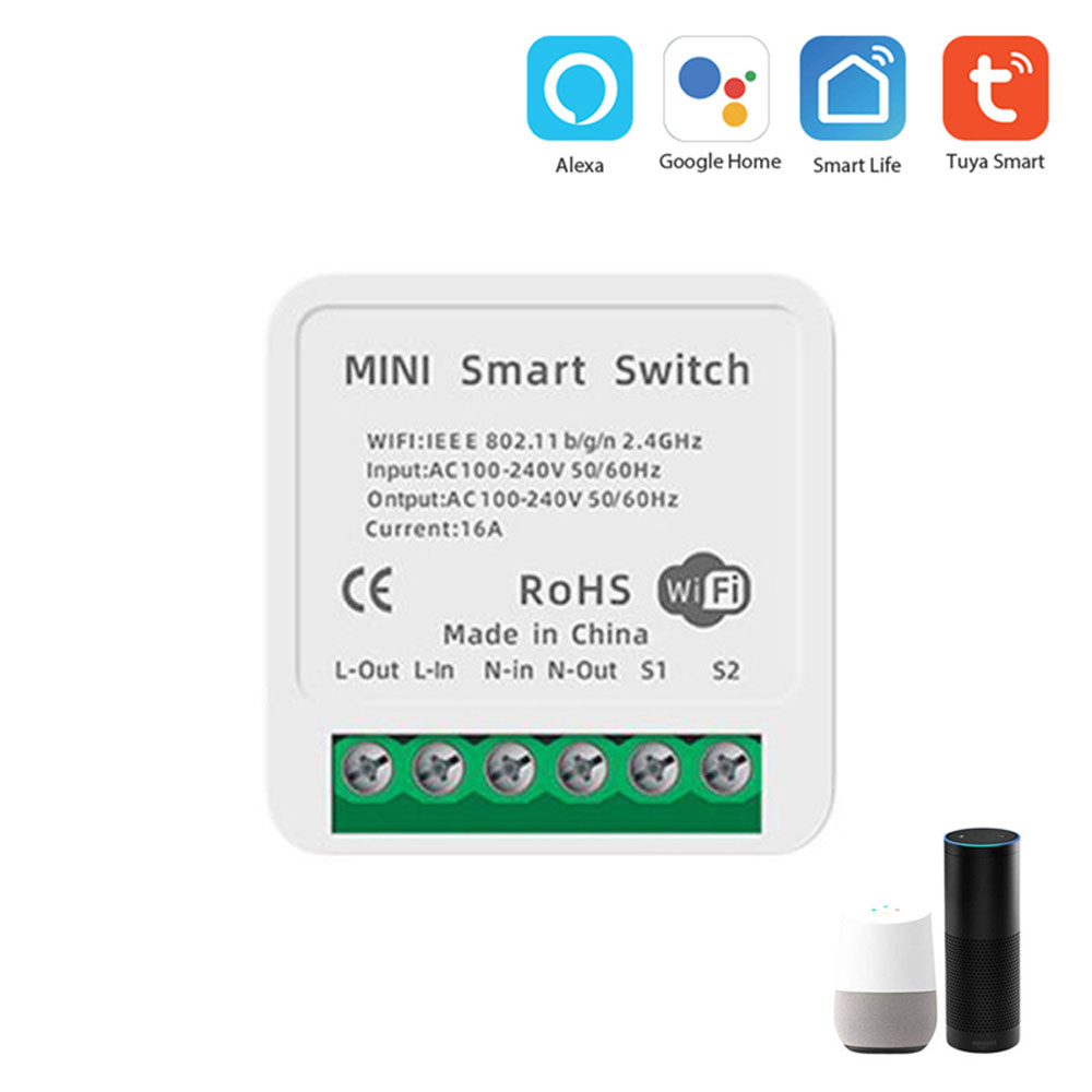 Tuya WiFi Switch Module Smart Home Converted Light Modification Module Switch Controller APP/Voice Control for Alexa Google Home
