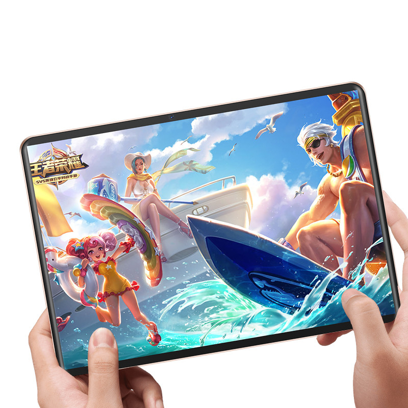 10.1 Inch Tablet Android 9.0 10 Core 6GB RAM + 128GB ROM 1920x1280 IPS Dual Camera 8MP SIM Tablet PC Wifi GPS 4G Lte Phone
