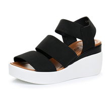 EIE 2020 summer thick bottom women's sandals elastic band women's shoes
