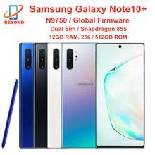 Samsung Galaxy Note10 + N9750 Примечание 10 плюс Dual Sim 256 Гб встроенной памяти 12 Гб оперативной памяти Octa Core 6,8