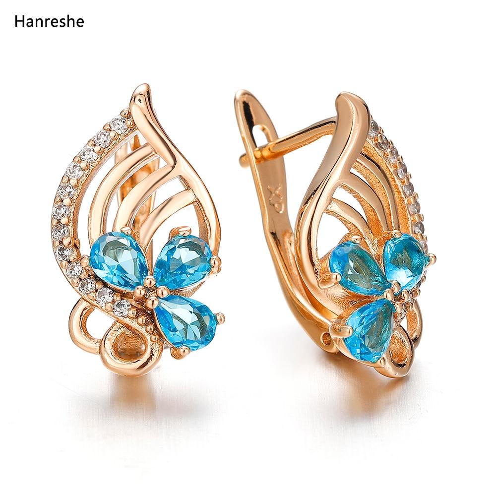 Luxury Women's Crystal Zircon Earrings Zinc Alloy Natural Zircon Jewelry Female Beautiful Fashion Earrings Multi-color Optional