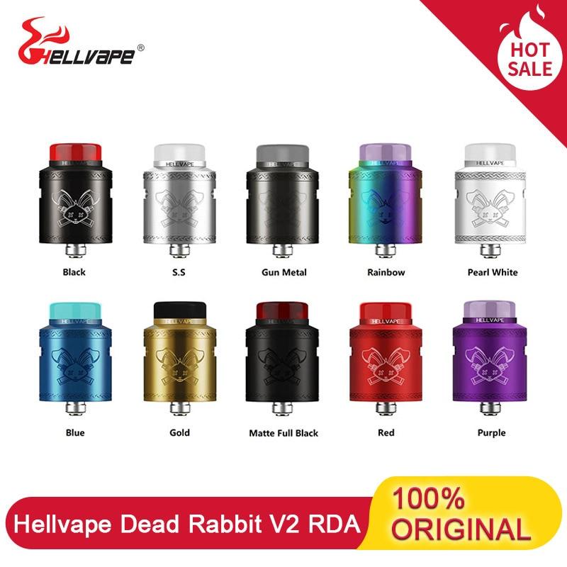 Hellvape Dead Rabbit V2 RDA Atomizer 24mm 510 Thread & Support Single / Dual Coil Electronic Cigarette Vape Tank VS Zeus X