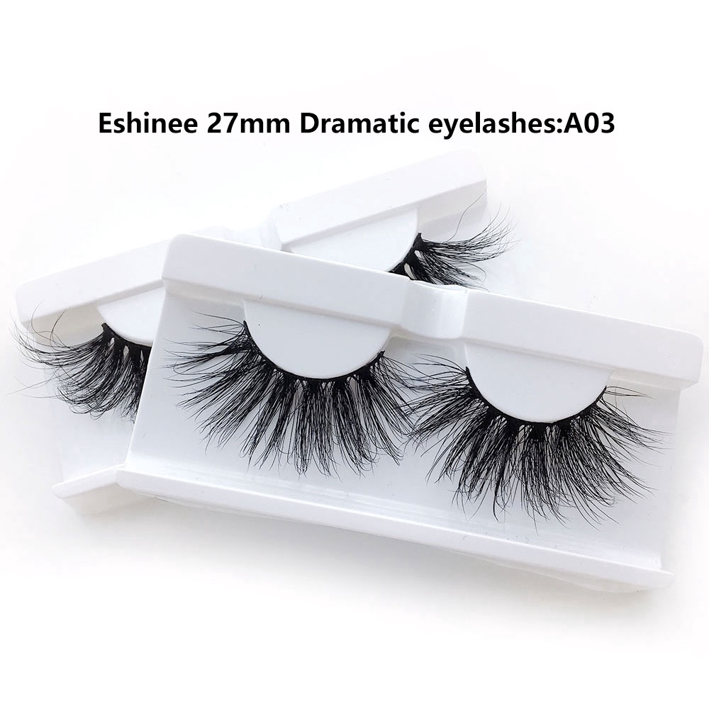 1 paar 25-27MM Lange Wimpern 5D Nerz Falsche Wimpern Dicke Make-Up Nerz Wimpern Party <font><b>A03</b></font> image