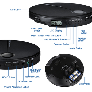Image 4 - Portable CD Player with Earphones HiFi Music Compact Walkman Player Reproductor CD Anti Shock Personal Car Music Disc Player
