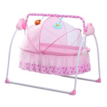 Baby Bed Bassinet Electric Shaker Cradle Newborn Shake Infant Sleeping Intelligent Automatic Flat Lay Protable Crib