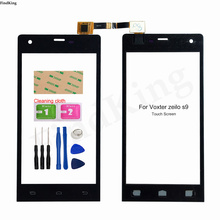 Mobile Phone Touch Screen For Voxter Zeilo S9 Touch Screen Digitier Panel Front Glass TouchScreen Lens Sensor Adhesive