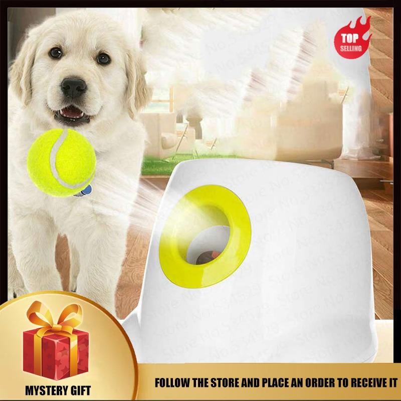 Dog pet tennis automatic transmitter pet thrower 3 launch ball area dog serve machine interactive toy tennis throwing machine
