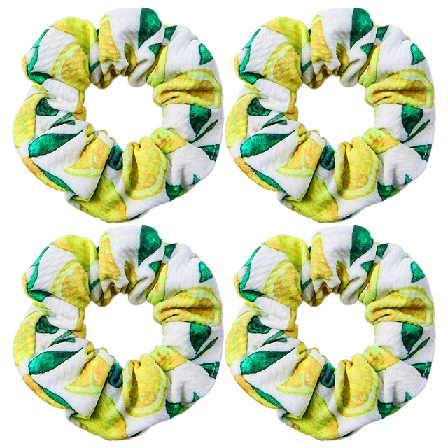Camo Print Liverpool Fabric Hair Scrunchies,Stretchy Ponytail Holder For Women