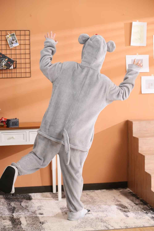 Kigurumi, disfraz de halloween para niño y niña, disfraz de Navidad, pijama de fiesta con ratón gris, disfraz de Carnaval