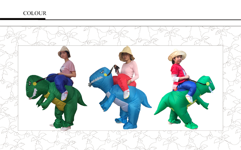 Cute Child Adult Inflatable Dinosaur Costume Suit Air Fan Operated Walking Fancy Dress Cosplay Party Outfit Animal Costume