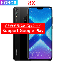 Honor móvil 8X, pantalla de 6,5 pulgadas, batería de 3750mAh, Android 8,2, cámara trasera Dual de 20MP, teléfono inteligente en varios idiomas