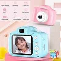 2 дюйма HD Экран платной цифровой мини-Камера, детские футболки с принтом в виде героев мультфильмов, Милая футболка Камера игрушки фон с изоб...