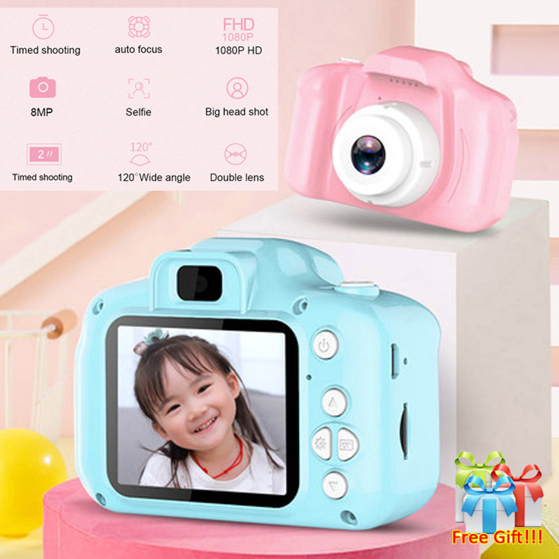 2 Inch HD Screen Chargable Digital Mini Camera Kids Cartoon Cute Camera Toys Outdoor Photography Camera for Child Birthday Gift image