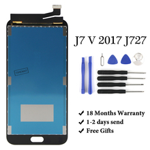 18 month Warranty Original For Samsung J7 V 2017 J727 J727P J727V LCD Display Touch Screen Digitizer Replacements J727 LCD original 15 inches ltm150xs l01 lcd screen warranty for 1 year