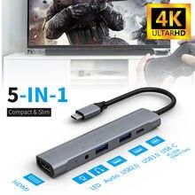Адаптер 5 в 1 с портом usb c на hdm 30 pd для ipad pro 11/129