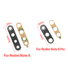100pcs/lot Glass Camera Lens with Tape Replacement For Xiaomi Redmi Note 8 8T 9S 9 Pro Max