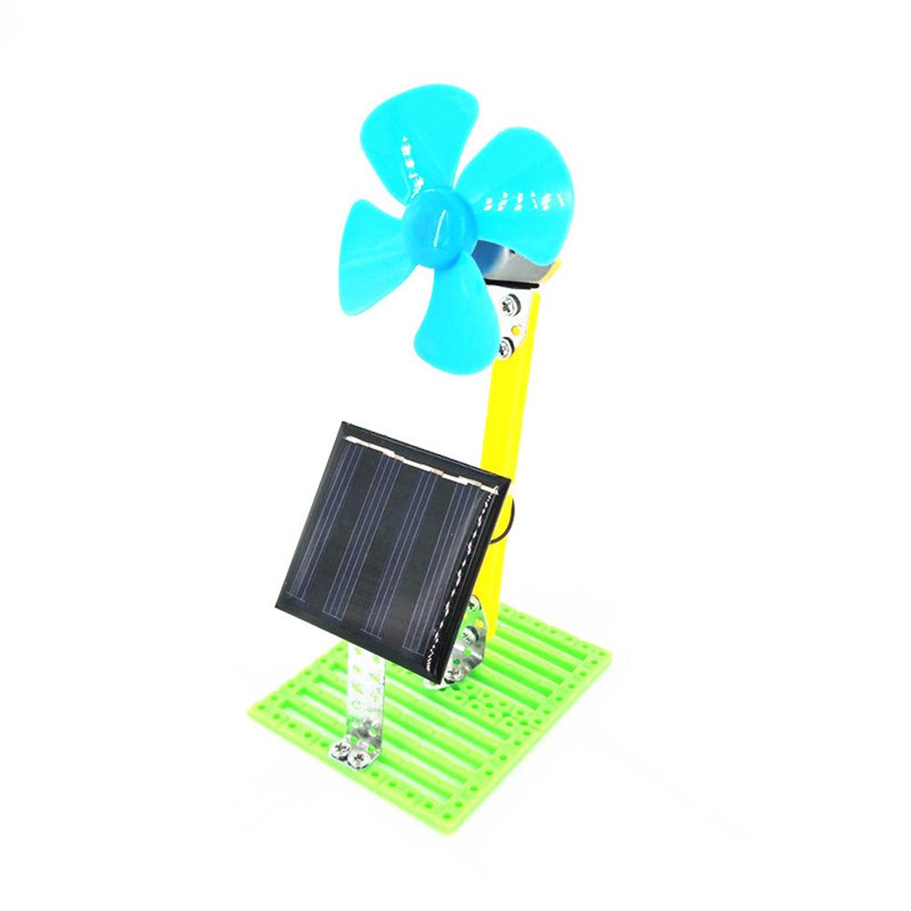 DIY Solar Powered Electric Fan Physics Circuit Experiment Kit Education Kids Toy New