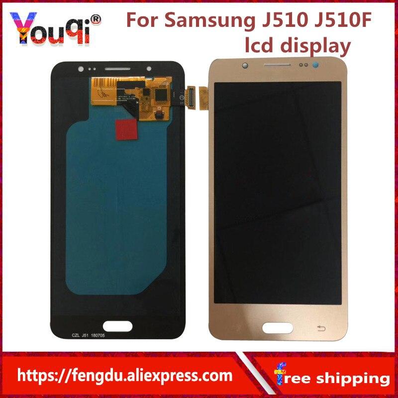 LCD de remplacement pour Samsung Galaxy AMOLED J5 2016 J510 J510F J510FN J510M LCD écran tactile numériseur contrôle de luminosité