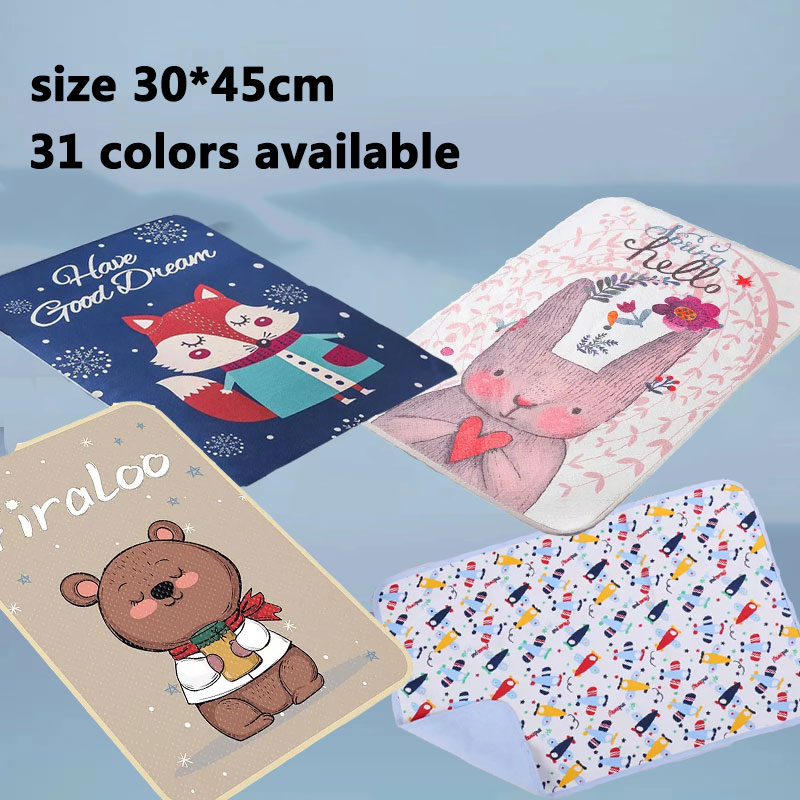 Baby Changing Pad Cover Portable Waterproof Baby Mattress Mat Nappy Changing Quick Dry Sheet Wet Wipes Bag Container Lequeen Bag