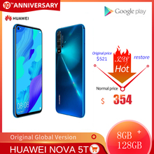 Global Version Huawei Nova 5T 8GB 128GB Smartphone 48MP Cameras 32MP Front Camera Mobile