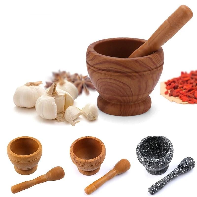 Spice Crusher Pepper Resin Mortar Pestle Teas Garlic Grinder Durable Gingers Kitchen Tool Bowl Restaurant Spices Herbs Mills Aliexpress