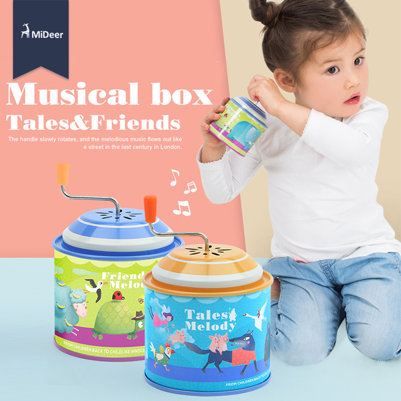 MiDeer Cartoon Metal Tin Music Box Instrument Kids Educational Toys For Children Toddlers Personalize Birthday Christmas Gift