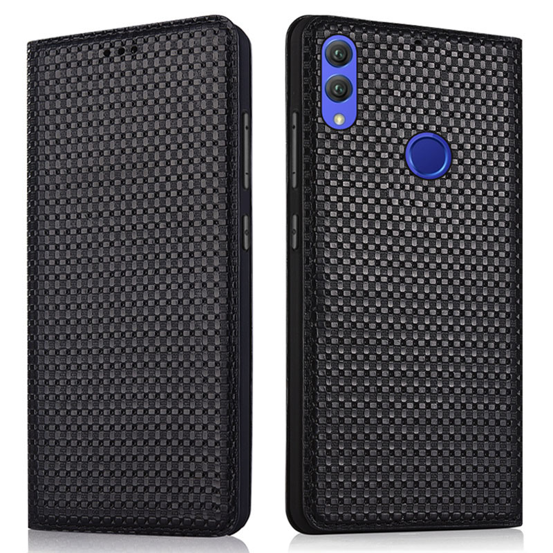 Luxury Genuine Leather Handmade Flip Case For Huawei Honor 8X/Huawei Honor 8X Max Magnetic Phone Bag Standing Leather Back Case