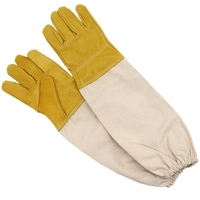 Prevent Gloves Protective Sleeves Ventilated Professional Anti Bee for Apiculture Beekeeper Beehive Yellow|Beekeeping Tools| |  -