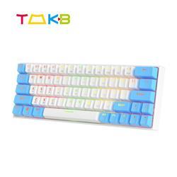 TMKB mechaniczna klawiatura gamingowa Outemu przełącznik USB / Bluetooth ABS klawisze 63 klawisze podświetlenie RGB