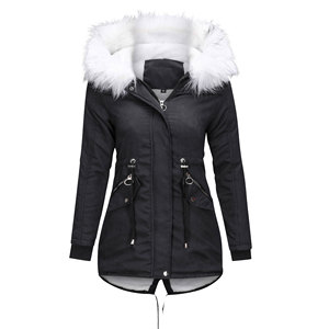 Image 1 - Women Jacket Long Overcoats Winter Warm Thick Female Casual Military Fur Tops Jackets Coats  Dropshipping