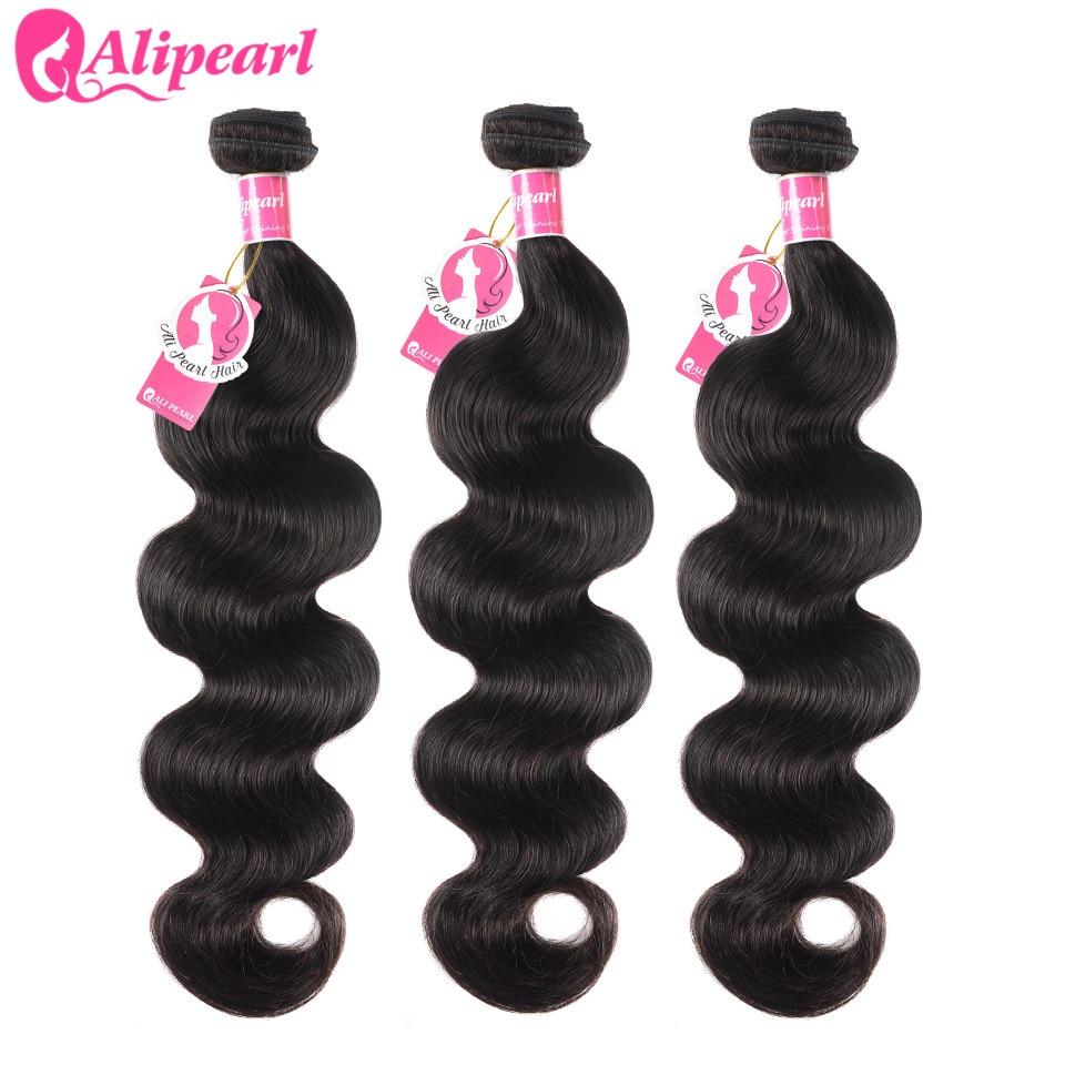 Tissage en lot brésilien Remy Body Wave 100% naturel-AliPearl, couleur naturelle, Extension de cheveux, lot de 3 et 4