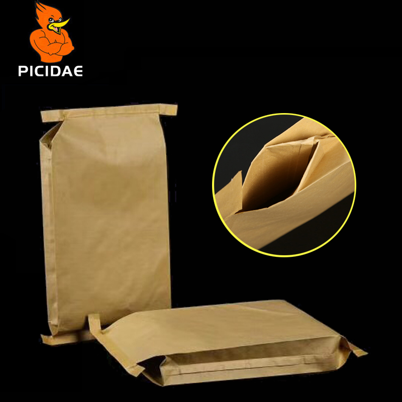 Paper-plastic Composite Woven Kraft Snakeskin Express Bag Packing Food Chemical Industry Cat Dog Feed Powder Grain Mortar Cement image