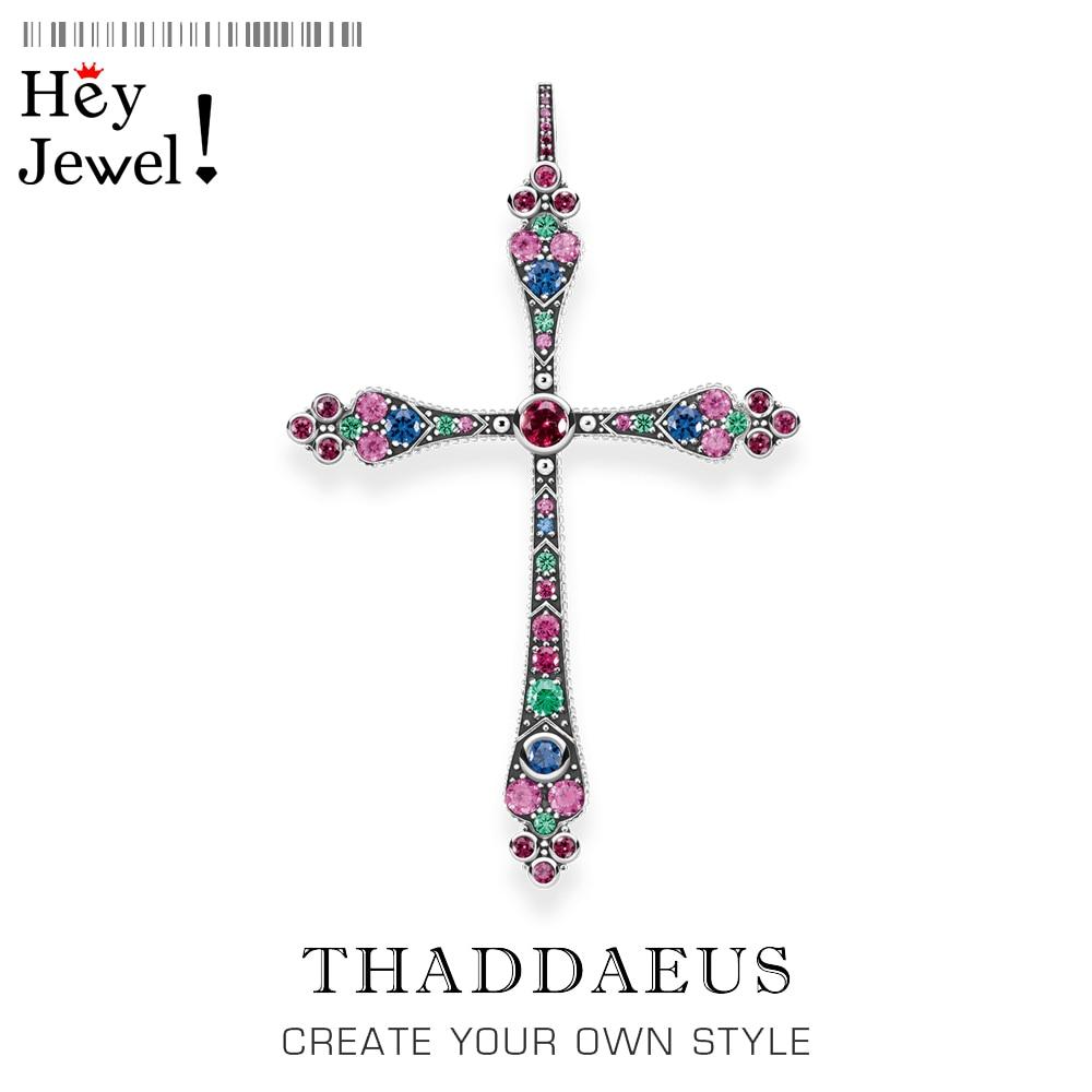 Colgantes Royalty Cross colorido, 2020 Nueva joyería victoriana Bohemia 925 Plata de Ley accesorios magníficos regalo para mujer